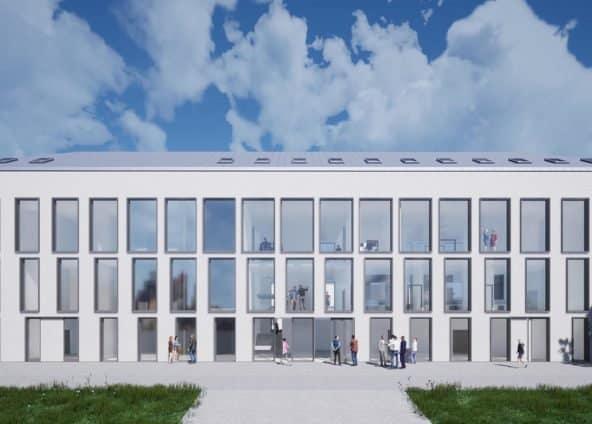 elewacja zachodnia budynku PWSTE w Jarosławiu