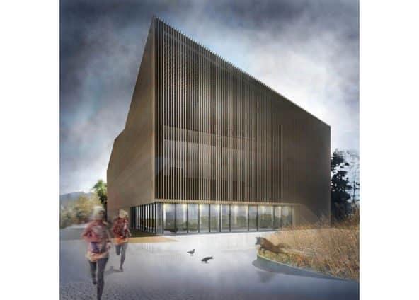projekt budynku Centrum Biegacza