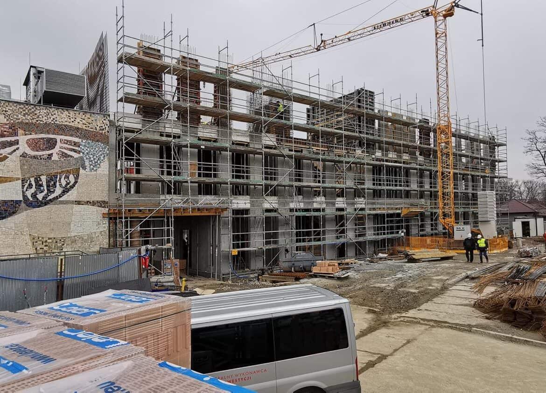 budowa budynku PWSZ w Nowym Sączu